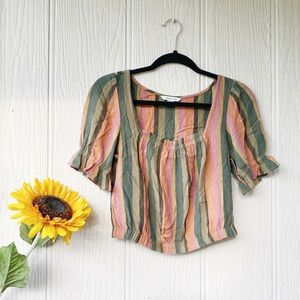 American Eagle Outfitters Stripped Blouse